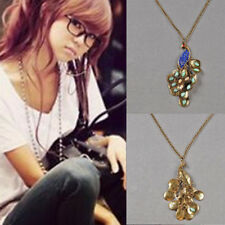 1pcs Pendant Peacock Hot Retro Style Rhinestone Lady Women Long Chain Necklace