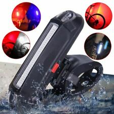 USB Rechargeable LED COB Bicycle Bike Cycling Front Rear Tail Light 4 Modes Lamp