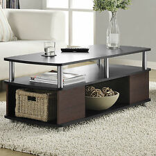 "42"" Rectangular Coffee Table Home Living Room Accent Furniture Storage Shelf"