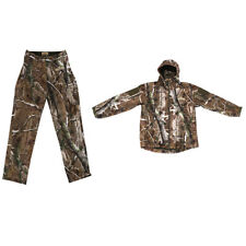 Hunting Rainsuit Camo Hooded Jacket Pants, Trousers Camouflage Suit, 3D