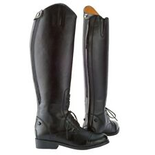 Saxon Equileather Ladies' Lace Up Field Riding Boots with Elastic and Zipper