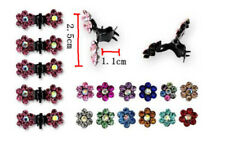 Claws Rhinestone Clamps Mini Hair Pin 6pcs Girls Crystal Clips Sweet Flower