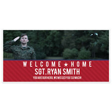 Welcome Home Custom Photo Military Banner Party Backdrop