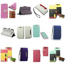 PU Leather Card Slots Flip Wallet Case Cover For Samsung Galaxy S3 i9300