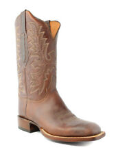 Lucchese AL2509.W8 Mens Tan Bucaneer Leather Cowboy Western Boots