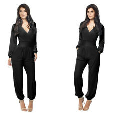 Women'S Corset Jumpsuit Rompers Club Party V-Neck Embellished Cuffs Jumpsuits