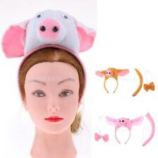 Kids Animal Pig Piggy Costume Head Band Bow Tie Tail Set Party Fancy Dress