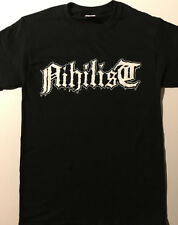 NIHILIST logo T shirt Death Metal ENTOMBED  BOLT THROWER Grave S - XL FREE SHIP