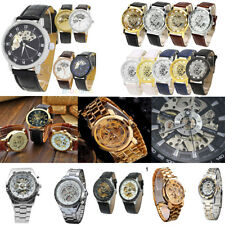 HH- Men Business Hollow Skeleton Dial Automatic Mechanical Wrist Watch Gift Nimb