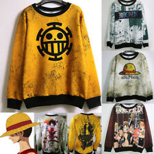 ONE PIECE Luffy Unisex Anime Trafalgar Law Sweater Cosplay Outfit Tops Costume