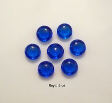 Edible Diamond Jewel Sugar Gems Cake Decoration-0.6 cm Handmade - Royal Blue