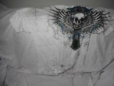 Raw State Shirt Affliction UFC MMA White Redemtion Men's Graphic T Shirt Sz M