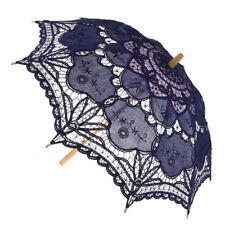 Ladies Vintage Lace Floral Umbrella Wedding Photo Prop Bridal Parasol