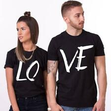 Love Matching T Shirts Couple His Hers Men Women Tops Design Valentine Lovers