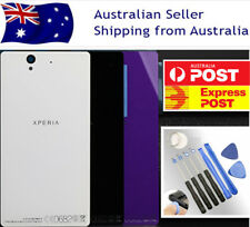 Sony Xperia Z L36h C6603 Black/White/Purple Back Rear Glass Battery Cover