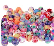 150pcs! Mixed Color Round Fimo Beads Polymer Clay Beads Finding 10mm