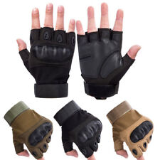 Motorcycle Military Tactical Outdoor Fingerless Hard Knuckle Half Finger Gloves