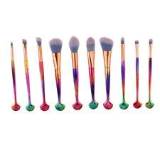 Pro 10pcs Eyeshadow Blending Makeup Brushes Set Eyebrow Face Lip Brush Kit