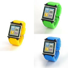 Adjustable Silicone Watch Band Wrist Strap Cover Case for Apple iPod Nano 6