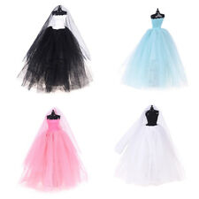 Fashion Royalty Princess Dress/Clothes/Gown+veil For Barbie Doll Accessories FT