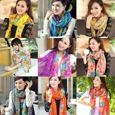 Fashion Women Girls Long Scarf Wrap Flower Shawl Voile Scarves Sun Protection