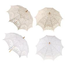 White Lace Parasol Princess Costume Accessory Bridal Wedding Umbrella