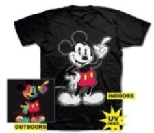 Disney Mickey Mouse Youth Boys Black Mickey Inks T Shirt