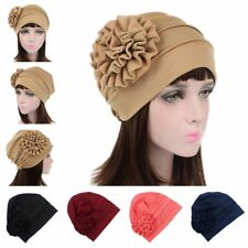 Women Muslim Flower Hijab Islamic Girls Head Scarf Turban Hat Ladies Chemo Cap