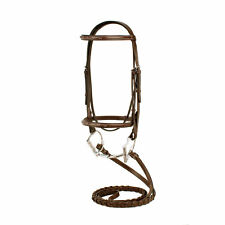 Silverleaf Fancy Stitched Square Raised Snaffle Bridle with Laced Reins