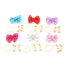 1 Set Jewelry Pearl Necklace Earrings for Barbie Dolls Plastic Accessories Z