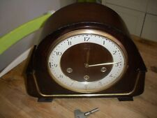SMITHS VINTAGE  WESTMINSTER  CHIMING MANTEL CLOCK KEY WIND