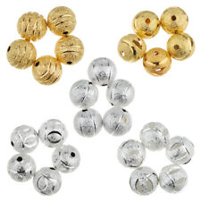 50pcs 10mm Spacer Loose Beads Round Frosted Spacer with 2mm Hole DIY Finding