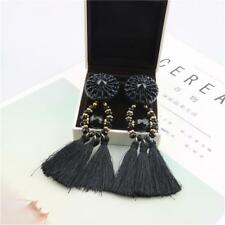 Women Fashion Bohemian Earrings Beads Tassel Fringe Boho Dangle Jewelry