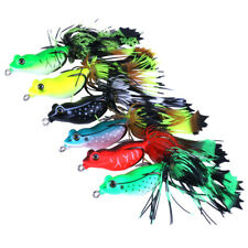 3D Frog Soft Fishing Lure Bait Floating Crankbaits - Bass Pike Perch Catfish