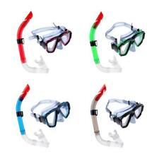 Adults Swimming Diving Mask Anti-fog Goggles Underwater Scuba Snorkel Set