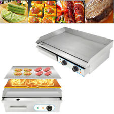 Electric Hotplate  Griddle Countertop Commercial  Egg Stainless Steel etc BED UK