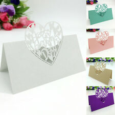 50Pcs/Set Guest Name Cards Heart Place Favors Table Wedding Supplies Party Decor