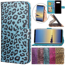 For Samsung Galaxy Note 8 Luxury Leopard Print PU Leather Wallet Flip Stand Case
