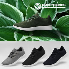 NWT PP1501 100% Merino Wool Womens Lace Up Casual Running Shoes Sneakers Trainer