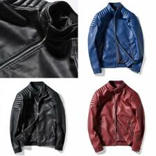 High Quality Men Fashion Cool Motorcycle Casual Jacket Autumn Winter Pu Leather