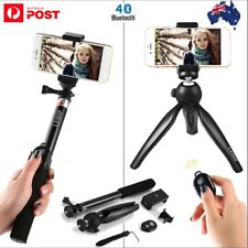 Extendable Selfie Stick Tripod Remote Bluetooth Shutter For iPhone Samsung Lot M