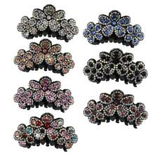 Sweet Crystal Rhinestone Ladies Large Hair Claw Clamps Clips Flower Gripper