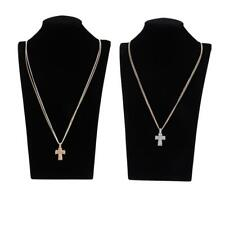 Crystal Cross Crucifix Pendant Religion Necklace Jewelry Girls Woman Charm Gift