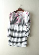 NEW JOULES SS18 BLOSSOM NAVY STRIPE HARBOUR PRINT TOP UK 12 14 16 18 20