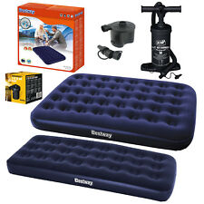 Double Single Flocked Camping Airbed Inflatable Mattress Blow Up Air Bed Pumps