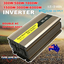 300W/500W/1000W/1500W/3000W/6000W Watt Power Inverter Pure Sine Wave 12V-240V GU