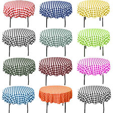 """Checkered Line Round Tablecloths 24"""", 36"""", 48"""", 58"""""""