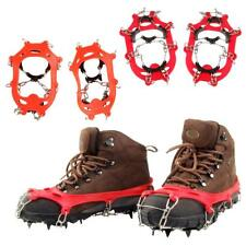 11 Teeth Ice Snow Anti Slip Spike Grip Gripper Crampon Cleat For Shoes Boots