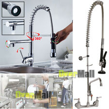 "New Commercial Kitchen Restaurant Pre-Rinse Faucet Swivel with 12"" Add-On Faucet"
