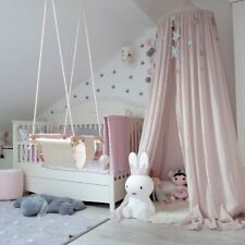 Kids Baby Bedding Mosquito Net Round Dome Bed Canopy Netting Bedcover Curtain AU